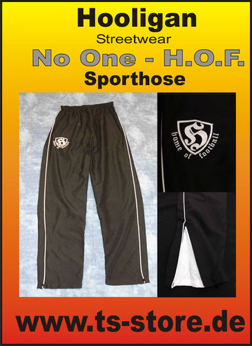 Hooligan - Sporthose / Jogginghose - Modell: No One - schwarz