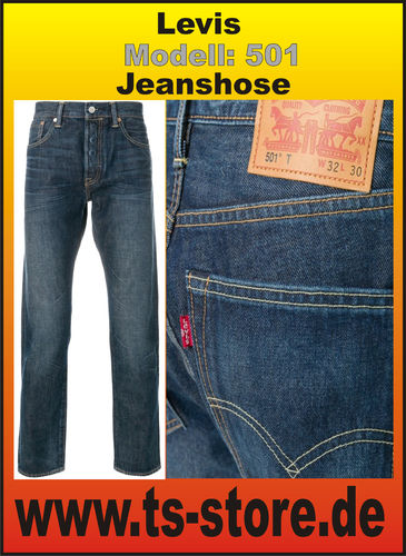 Levis - Herrenjeans - Modell: 501 - Basic Blue