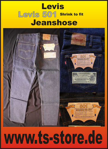 Levis - Jeans - Modell: 501 - Shrink to Fit - dunkelblau