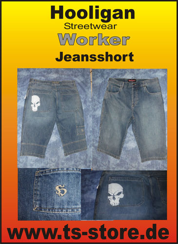 Hooligan - Jeansshort - Modell: Worker