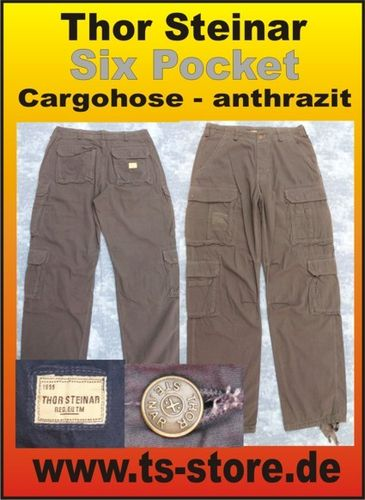 Thor Steinar - Cargohose - Six Pocket - anthrazit